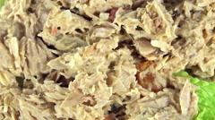 Tuna salad (not loopable) Stock Footage
