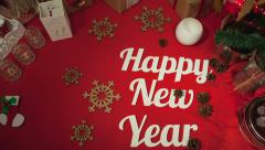 Happy New Year composition, holidays concept background Stock Footage