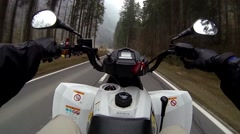Street ATV Ride Stock Footage