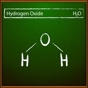 Hydrogen oxide formula Stock Illustration