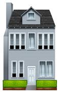 A tall building - stock illustration
