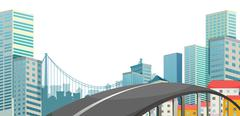 Stock Illustration of A road at the city