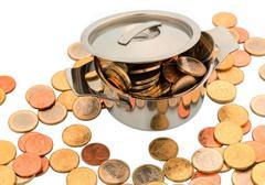 European coins Stock Photos
