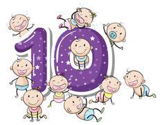Stock Illustration of number ten
