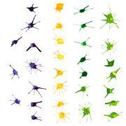 Stock Illustration of mardi gras design elements. watercolor blots.
