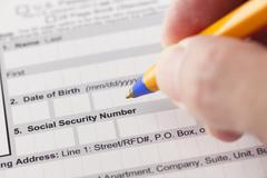 Social security number fields in application form Kuvituskuvat