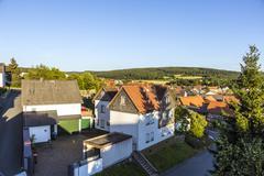 Small village of brandoberndorf with half timbered houses Stock Photos
