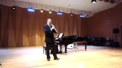 Musical Duo Band Play Music On Stage Arkistovideo
