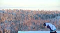 Freestyle Ski Jumps 1080p HD Stock Footage