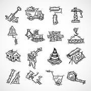 Stock Illustration of Construction icons set
