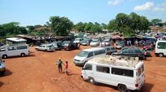 Market place city Bissau Guine Bissau Stock Footage