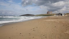 Fistral beach Newquay North Cornwall England UK Stock Footage