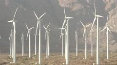 Clean Green Energy Wind Turbines Alternative Desert Power Stock Footage