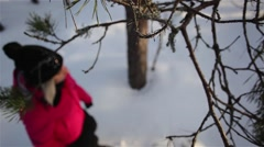Snowshoeing 1080p HD Stock Footage