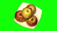 Apples on the plate Stock Footage