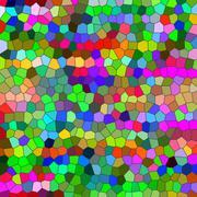 Multicolored odd shapes mosaic illustration Stock Illustration
