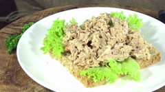 Tuna sandwich (not loopable) Stock Footage