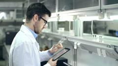 Scientist in Lab - stock footage
