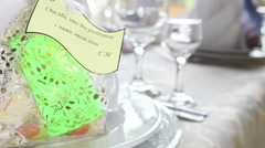 gift for wedding guest - stock footage