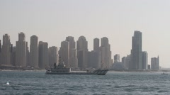 Dubai Marina Skyline Stock Footage