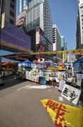 hong kong activists are fighting for their right to choice for the next chief - stock photo