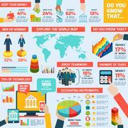 Accounting infographics set - stock illustration