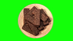 Chocolate wafers 01 Stock Footage