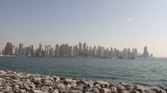 Dubai Skyline Stock Footage