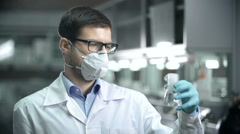 Dust Protective Mask Stock Footage