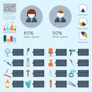 Hairdresser infographic set Stock Illustration