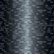 Black and white security background with HEX-code Stock Illustration