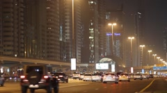 Sheikh Zayed highway Dubai - stock footage