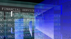 Stock market screen. Blue color. - stock footage