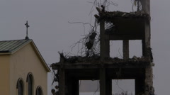 Demolition of the church Stock Footage