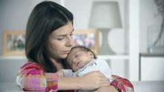 Gratification of Motherhood - stock footage