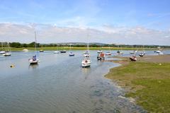 Stock Photo of boats at bosham. sussex. england