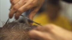 Barber Shop Haircut Hair Salon Scissors - stock footage