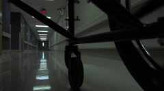 4K POV Wheelchair Patient Hospital Hallways - stock footage