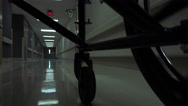 Stock Video Footage of 4K POV Wheelchair Patient Hospital Hallways