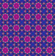 blue and pink ethnic pattern. - stock illustration