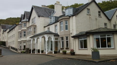 The Inversnaid Hotel Scotland Highlands, Loch Lomond Stock Footage