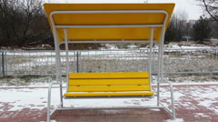 Swing in winter Stock Footage