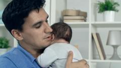 Affectionate Father - stock footage