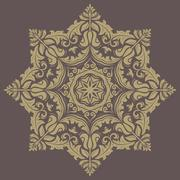Orient  ornamental round lace - stock illustration