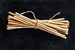 breadsticks grissini torinesi - stock photo