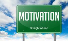 Motivation on Highway Signpost. Stock Illustration