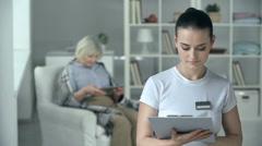 Nursing Home Worker - stock footage