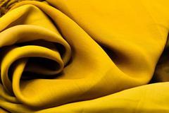 Golden satin textile - stock photo