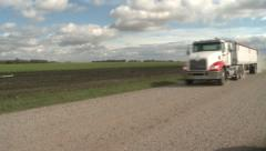 Truck Going Down Dirt Road Stock Footage