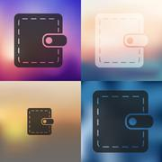 Purse icon on blurred background Stock Illustration